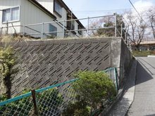 大字田面木字外久保(八戸駅) 490万円 裏は擁壁となっています。