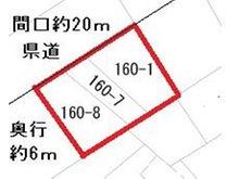 長苗代1(長苗代駅) 520万円 土地価格520万円、土地面積135㎡公図(地図に準ずる区画図)現地との寸法に違いがございます。現地ご確認をお願いいたします。