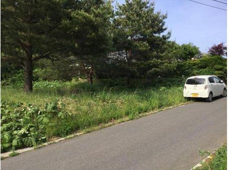 字古舘向 340万円 敷地と道路との関係。