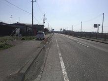苗振谷地(下田駅) 2400万円 現地(2019年5月)撮影 前面道路は45号線です
