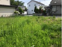 東十五番町 430万円 敷地奥から、道路に向って撮影。近隣では新しい住宅もたっています。