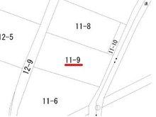大字大久保字夏川戸(白銀駅) 270万円 土地価格270万円、土地面積168.14㎡公図(14条地図)
