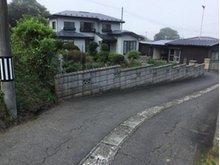 大字鮫町字骨沢(大久喜駅) 100万円 前面道路の様子です。