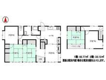 古川塚目字屋敷(塚目駅) 650万円 650万円、6DK、土地面積154.24㎡、建物面積115.89㎡●6DK、1階には和室二間続き+洋間