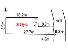 土地価格360万円、土地面積206.88㎡