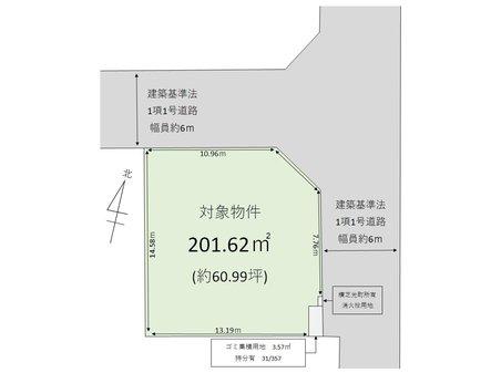 鳥喰新田(横芝駅) 500万円 土地価格500万円、土地面積201.62㎡
