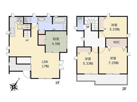 桜ケ丘3(ふじみ野駅) 3500万円 3500万円、4LDK、土地面積128.15㎡、建物面積95.83㎡  南東向きの明るい住まいです。LDKは17あり、家族みんなでゆったりとくつろぐ事ができます。 資料請求や現地案内など、お気軽にお問い合わせください(`・ω・)b