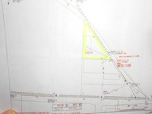 中都町1 373万5000円 土地価格373万5000円、土地面積246.95㎡使い方いろいろな三角土地