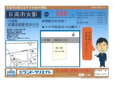 大字女影(武蔵高萩駅) 550万円