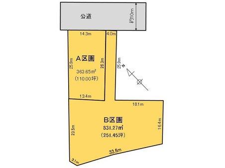 新治(新治駅) 850万円 土地価格850万円、土地面積831.27㎡