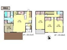 岩松町(木崎駅) 2580万円 2580万円、4LDK、土地面積223㎡、建物面積100.19㎡■4LDKの間取り ■シンプルで生活しやすい設計です☆