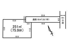 土地価格987万円、土地面積251㎡