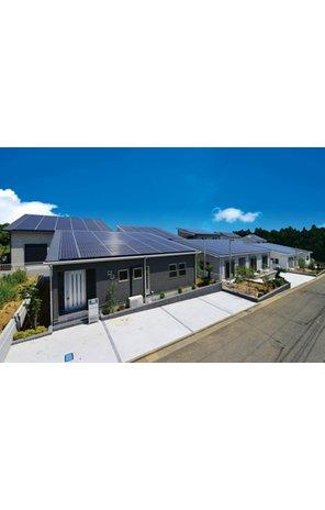 太陽光発電搭載の家(平屋) 『高気密・高断熱』+『オール電化』+『太陽光発電システム10kw以上搭載』の新築戸建! 売電収入で住宅ローンを軽減できます。