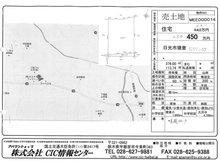 猪倉 250万円 土地価格250万円、土地面積376㎡販売図面