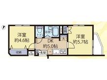 メゾンエクレーレ相模原 2DK、価格1380万円、専有面積31.05㎡、バルコニー面積1.81㎡角部屋・南西向きの陽の光がサンサンと差込む大変明るいお部屋は、使い勝手の良い2DKの間取りです。各居室にクローゼットを完備し、収納も豊富です♪