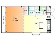 太田リッチコンドミニアム 1LDK、価格680万円、専有面積44.3㎡、バルコニー面積5.67㎡