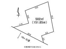 土地価格912万円、土地面積502㎡