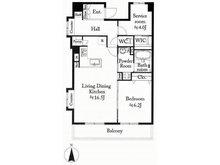 パシフィック小豆沢 1LDK+S、価格3599万円、専有面積63.7㎡、バルコニー面積12.51㎡10階部分の南向き角住戸