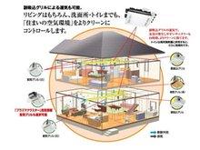 【全熱交換型24時間換気システム】<br />冷たい空気と暖かい空気の熱交換をする全熱交換器です。<br />熱交換率が約80%と熱損失が少なく省エネにも効果的!<br />室内は常にクリーンな空気に保てます。