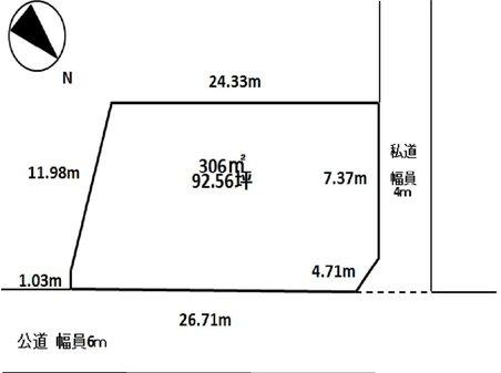 蓮沼ニ(松尾駅) 450万円 土地価格450万円、土地面積306㎡
