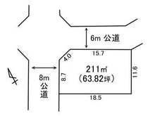 久慈町2(大甕駅) 1117万円 土地価格1117万円、土地面積211㎡