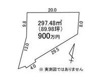 大字石神内宿(東海駅) 900万円 土地価格900万円、土地面積297.48㎡