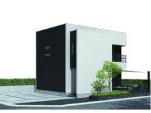 大貫4(高田駅) 843万円 建物プラン外観 シャープなイメージです。