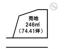 土地価格800万円、土地面積246㎡