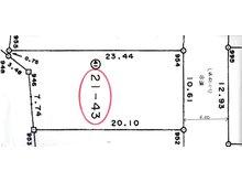 火釜町 471万円 土地価格471万円、土地面積222.76㎡分筆測量図 裏手は自然林