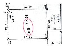火釜町 471万円 土地価格471万円、土地面積222.74㎡分筆測量図