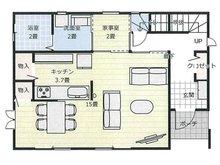 大貫1(南高田駅) 530万円 建物プラン 1階(16.5坪)