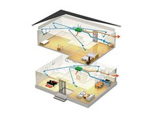 名古屋市南区 外山一丁目 【一戸建て】 【24時間換気(第1種換気)】 機械で換気をコントロールし、快適な室内環境を整えます。室内の温度を快適域に保ちます。 熱交換器により、外気の温度を緩和して室内に取り入れます。