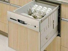 【食器洗い乾燥機】 水圧でのびる2段式ノズル「タワーウォッシャー」が汚れをしっかりと洗い落とします。