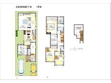 (1号地)、価格4421万7000円、4LDK、土地面積120㎡、建物面積114.16㎡