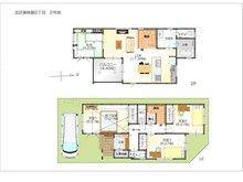(2号地)、価格4167万9000円、4LDK、土地面積100.02㎡、建物面積107.95㎡