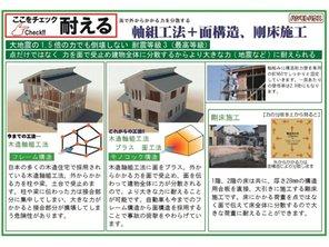 【ハシモトハウス】 北区東味鋺2丁目(2区画)~開放的なオープンキッチンのある家~ 【一戸建て】 構造・工法・仕様