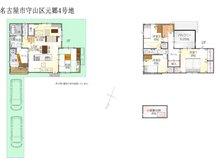 (元郷2丁目4号地)、価格4195万8000円、4LDK、土地面積133.38㎡、建物面積118.41㎡