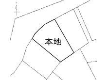 土地価格170万円、土地面積283㎡区画図(公図写しで現況と異なります)