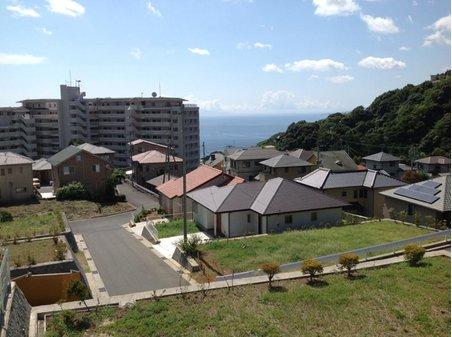 伊豆山 1980万円 高台から見た現地(2013年9月)撮影