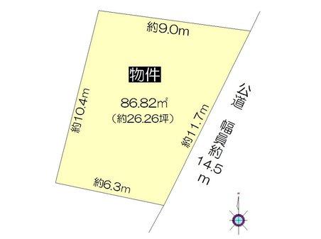南本町4(津島駅) 525万2000円 土地価格525万2000円、土地面積86.82㎡