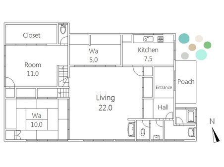 2180万円、3DK+S(納戸)、土地面積668.17㎡、建物面積143.33㎡間取り図