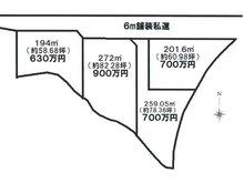 宇佐美(宇佐美駅) 630万円 区画図