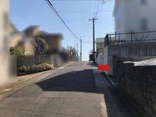 徳川山町3(自由ケ丘駅) 9500万円 閑静な住宅街に立地しています(赤い矢印が本物件入り口です)