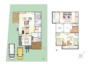 (7号地)、価格3499万3000円、3LDK、土地面積176.02㎡、建物面積105.59㎡