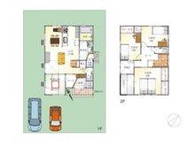 (9号地)、価格3608万3000円、4LDK、土地面積176.02㎡、建物面積104.34㎡