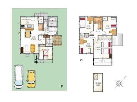 (10号地)、価格3398万3000円、5LDK、土地面積176.02㎡、建物面積105.44㎡