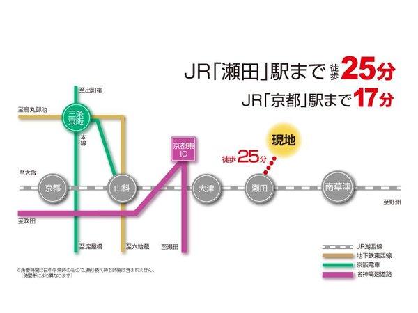 【橋本不動産】草津市 新浜町分譲地 ◆販売1戸◆  【一戸建て】 路線図