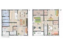 建物プラン例( 号地)建物価格1660万円、建物面積100㎡
