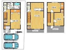 2080万円、3LDK、土地面積78.64㎡、建物面積107.64㎡完成済み:車庫2台分あり
