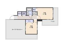 【投資用物件】ホーユーコンフォルト新神戸 2K、価格945万円、専有面積29.14㎡、バルコニー面積7.34㎡ルーフバルコニー付きですので明るいですよ♪